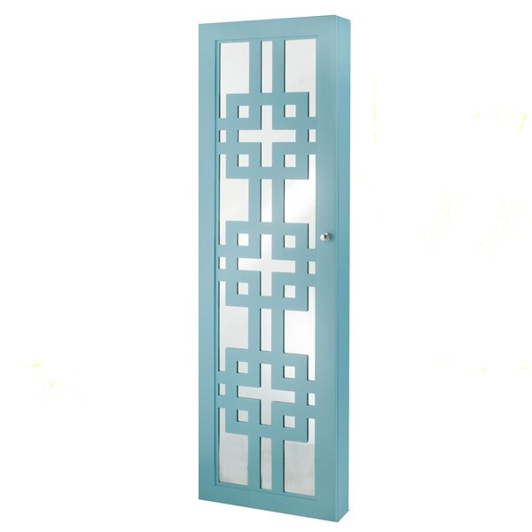 Modern Over The Door Jewelry Armoire with Mirror b