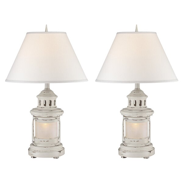 Megan Lantern 27 Table Lamp (Set of 2) by Highland Dunes