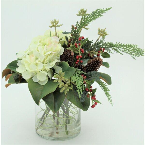 Hydrangeas Neck Tie Mixed Floral Arrangement by T&C Floral Company