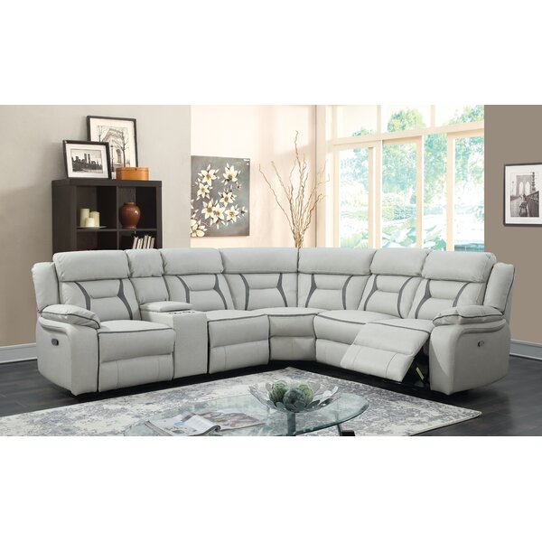 #2 Aston Leather Reclining Sectional By Latitude Run Best
