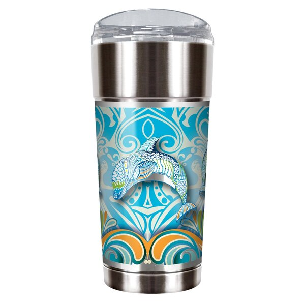 Dolphin Dance 24 oz. Stainless Steel Travel Tumbler by Great American Products