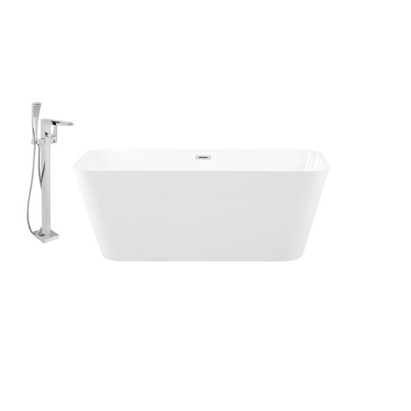 59 x 26 Freestanding Soaking Bathtub by Streamline Bath