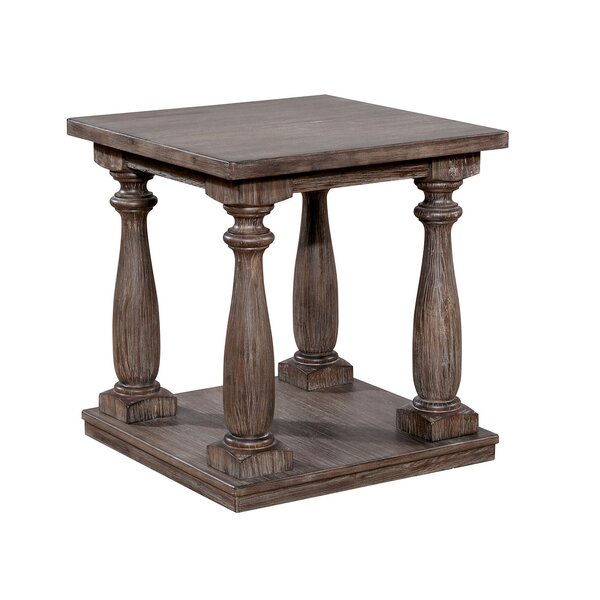 Bock Wooden End Table By Charlton Home