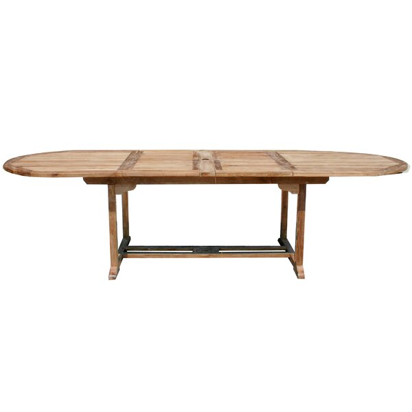 Bauman Extendable Teak Dining Table by Darby Home Co