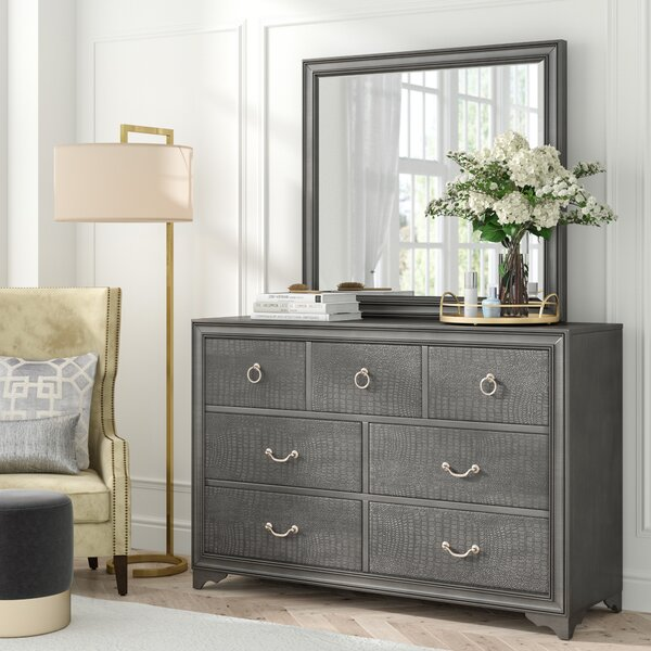Florine Rectangular Dresser with Mirror by Rosdorf Park