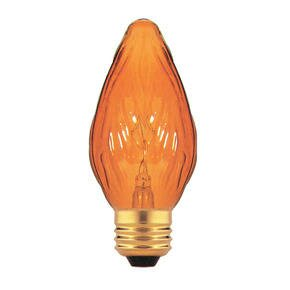 Amber 130-Volt Incandescent Light Bulb (Set of 25) by Bulbrite Industries