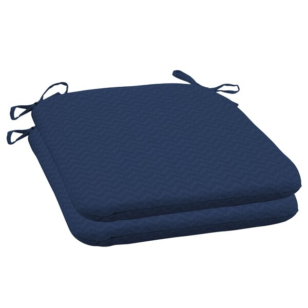 Leala Seat Pad Outdoor Dining Chair Cushion (Set of 2)