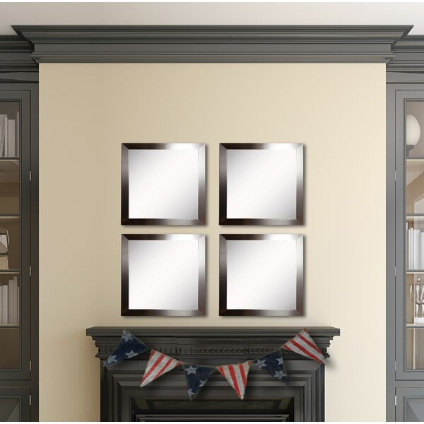 Osibodu Silver Petite Wall Mirror (Set of 4) by Orren Ellis