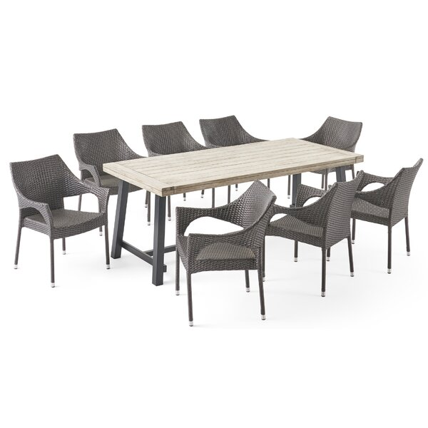 Baek Outdoor 9 Piece Dining Set by Ivy Bronx