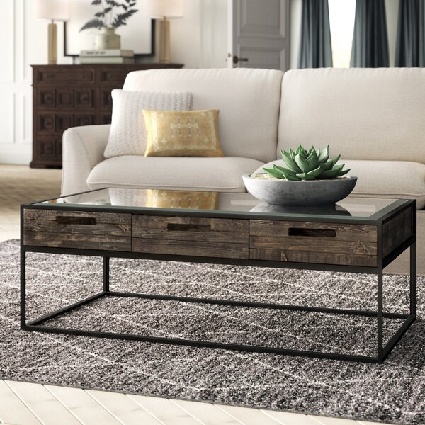 Bevier Coffee Table with Storage by Greyleigh