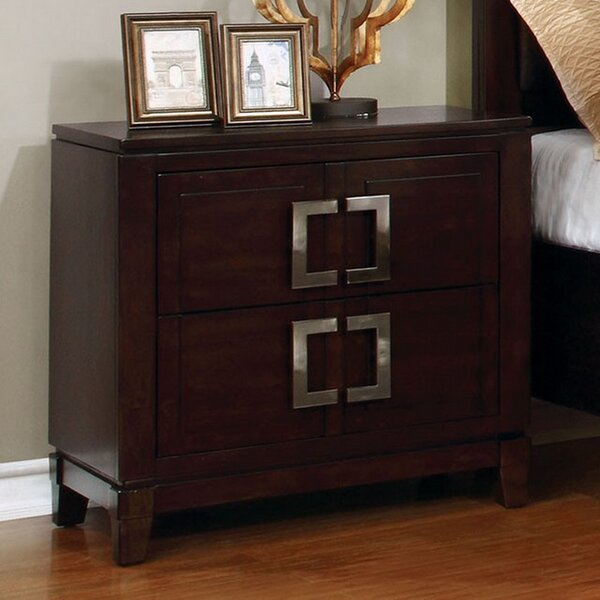 Meadowlakes 2 Drawer Nightstand By Ivy Bronx by Ivy Bronx Great price