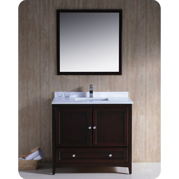 Oxford 36 Single Bathroom Vanity Set with Mirror by FrescaOxford 36 Single Bathroom Vanity Set with Mirror by Fresca