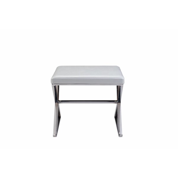 Luxe Faux Leather Bench by Pasargad Pasargad