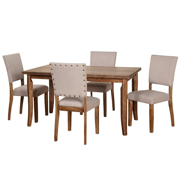 Lassiter 5 Piece Solid Wood Dining Set by Gracie Oaks