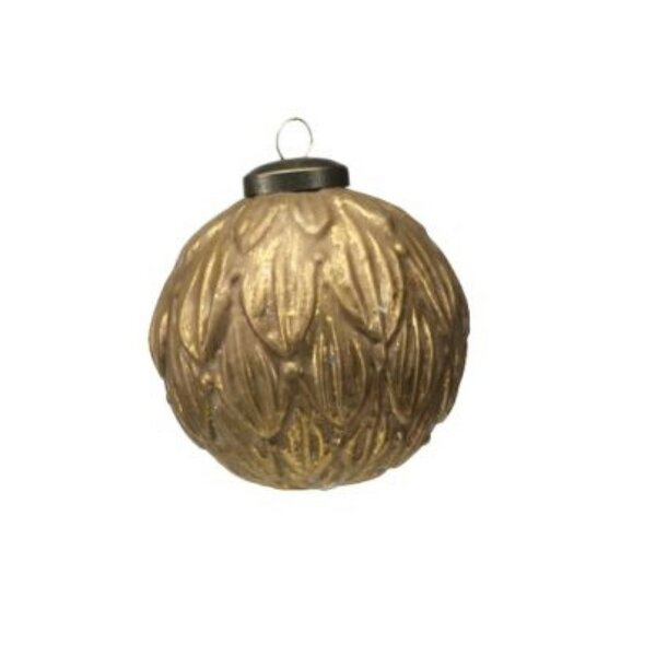 Leaf Holiday Ball Ornament (Set of 6) by Darby Home Co