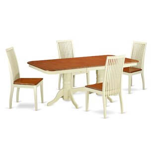 Pillsbury 5 Piece Solid Wood Dining Set By August Grove