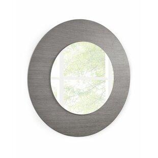 Orren Ellis Veneer/Glass Console Accent Mirror