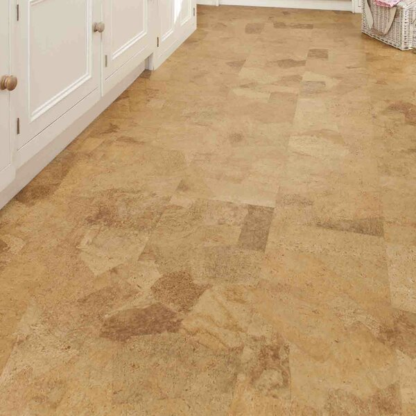 12 Tiles Cork Flooring in Sand Slate by Albero Valley