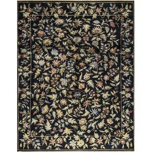 Affordable One-of-a-Kind Hand-Knotted Black Indoor Area Rug ByBokara Rug Co., Inc.