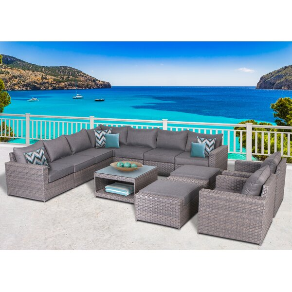 Humnoke 12 Piece Sectional Set with Cushions by Sol 72 Outdoor