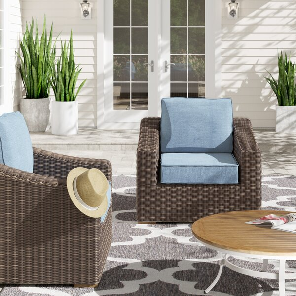 New Boston Patio Chair with Cushion (Set of 2) by La-Z-Boy