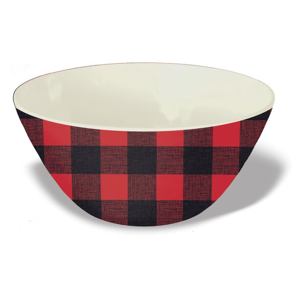 Outten Melamine Vintage Lodge Buffalo Check Rice Bowl Set of 6 by Loon Peak