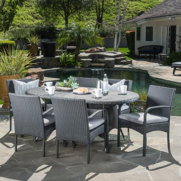 Mccoll 7 Piece Dining Set with Cushions by Red Barrel Studio