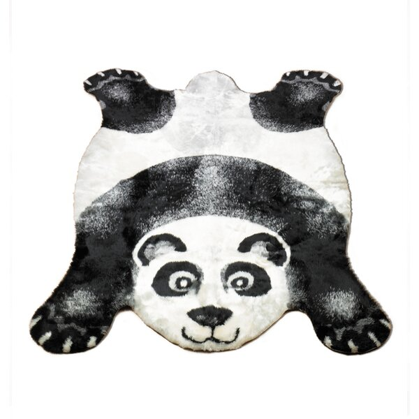 Panda Black Area Rug by Walk On Me