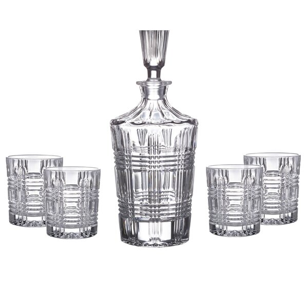 Bridgeport 5 Piece Crystal Snifter/Liqueur Glass Set by Fitz and Floyd