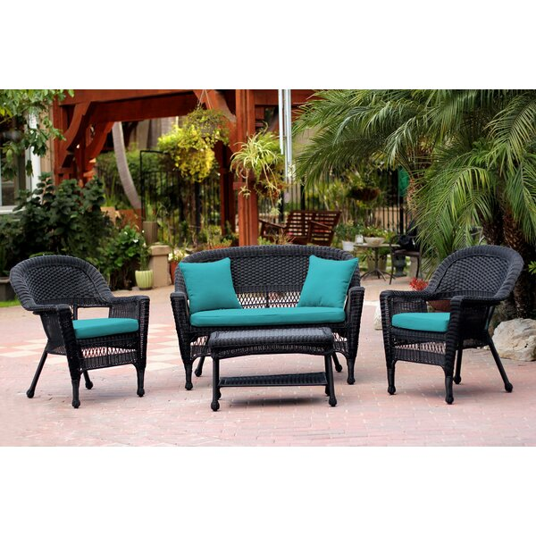 Cecilton 4 Piece Sofa Sating Group with Cushions by August Grove
