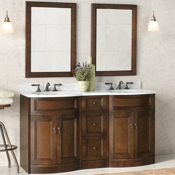 Marcello 24 Double Bathroom Vanity Set with Mirror by Ronbow