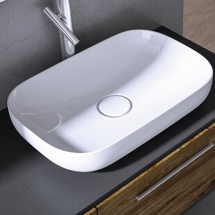 Read Reviews Vision Ceramic Oval Vessel Bathroom Sink ByWS Bath Collections