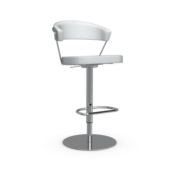 New York Adjustable Height Swivel Bar Stool by Calligaris