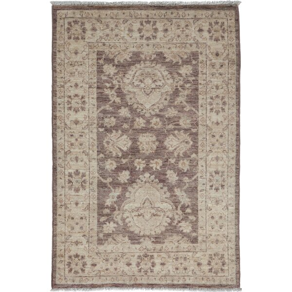 One-of-a-Kind Oushak Hand-Knotted Walnut Area Rug by Solo Rugs