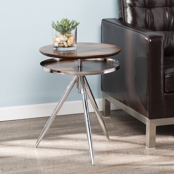 Aitana Adjustable End Table by Ivy Bronx