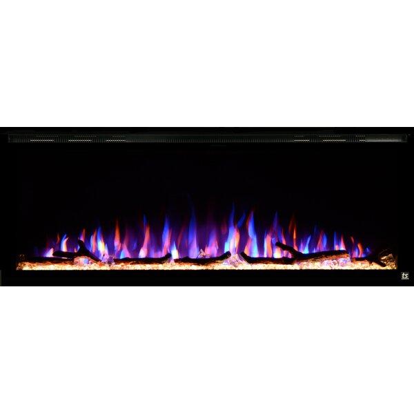 Bowerton Recessed Wall Mounted Electric Fireplace by Latitude Run Latitude Run
