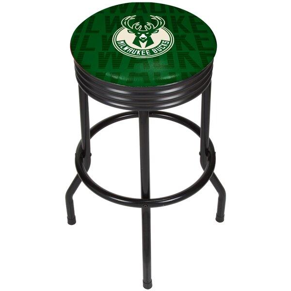 NBA City Ribbed 29 Swivel Bar Stool by Trademark G