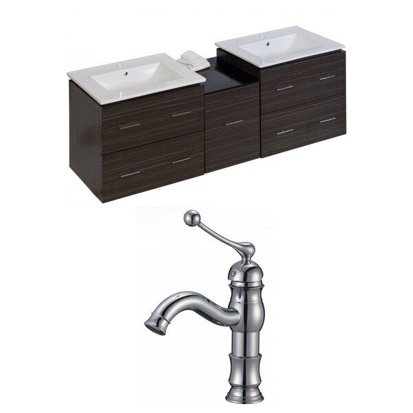 Maryalice Wall Mount 62 Wall-Mounted Double Bathroom Vanity Set