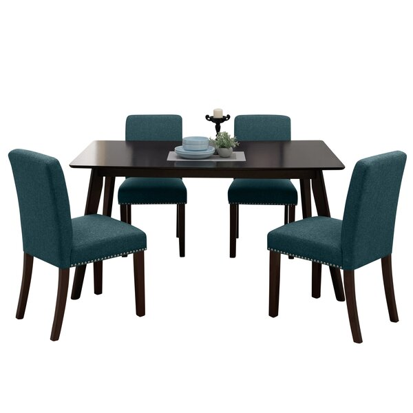 Mcewen Rectangle Armless 5 Piece Dining Set by Wrought Studio Wrought Studio