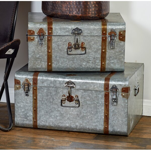 Galvanized Metal Trunk Set by Cole & Grey