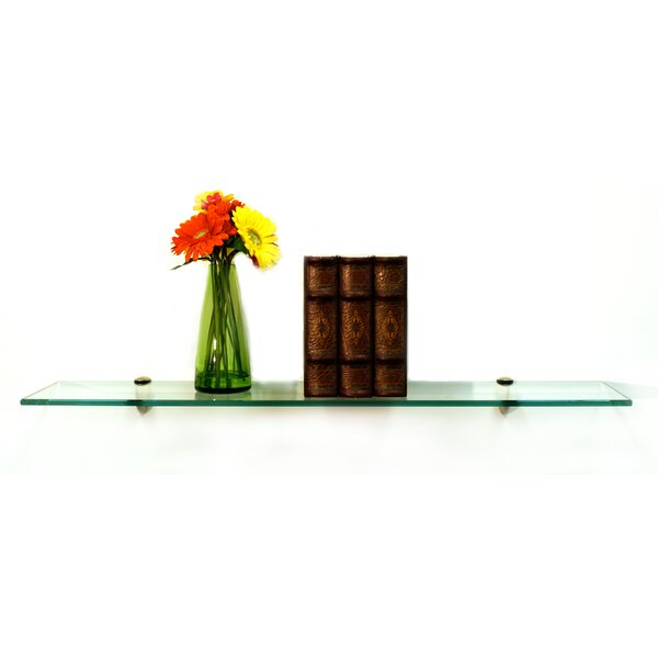 Floating Glass Shelves Wall Shelf by Spancraft Gla