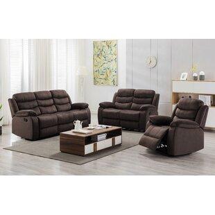 Portwood 3 Piece Reclining Living Room Set by Red Barrel Studio®