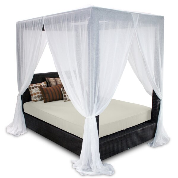 Signature Queen Canopy Bed with Cushions by Patio Heaven