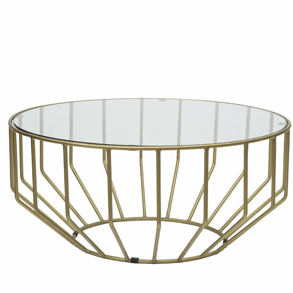 Burden Gold Leaf Coffee Table by Wrought Studio