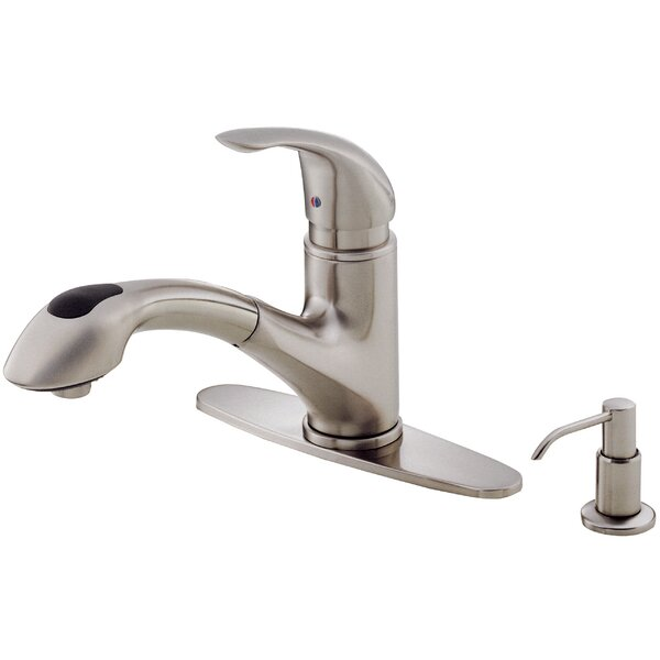 Melrose Single Handle Deck Mounted Kitchen Faucet with Soap Dispenser by Danze®