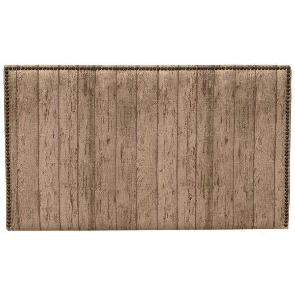 Tanner Plank Wood Upholstered Panel Headboard by Union Rustic