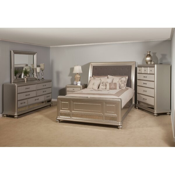 Panel 5 Piece Bedroom Set by Rosdorf Park