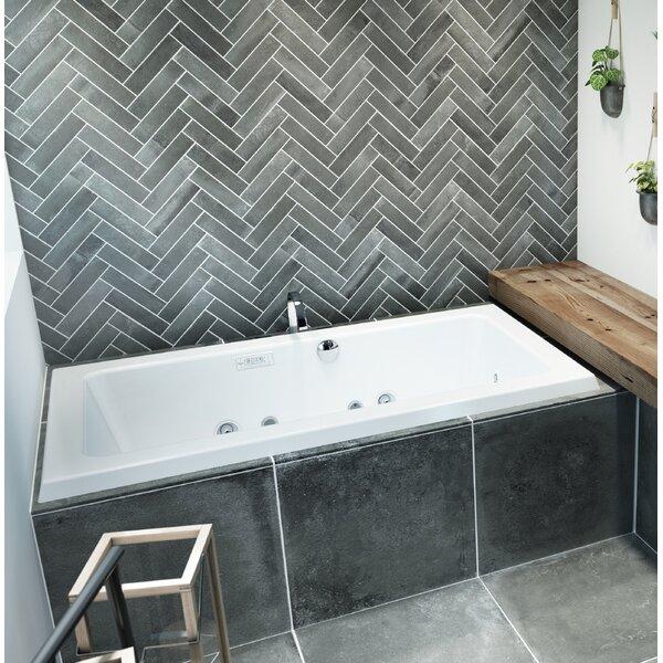 Sia Illuma LCD Whisper Right-Hand 72 L x 42 W Drop In Whirlpool Bathtub by Jacuzzi®