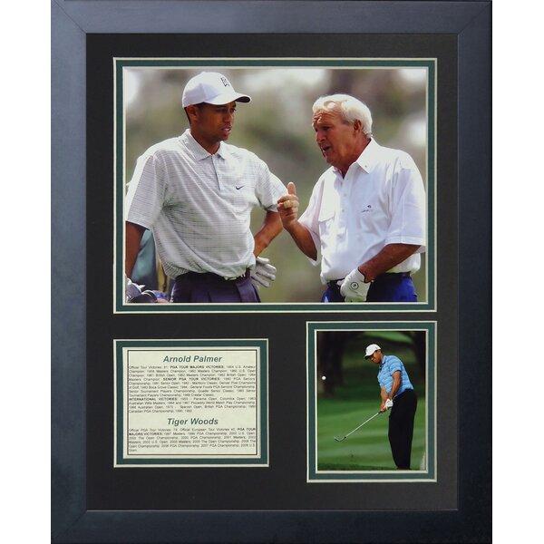 Arnold Palmer and Tiger Woods Framed Memorabilia by Legends Never Die