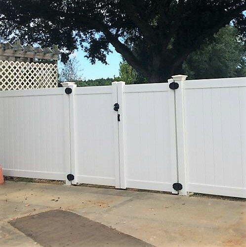 6 ft. H x 8 ft. W Heavy Duty Rainier Privacy Fence Gate by Vinyl Fence Wholesaler